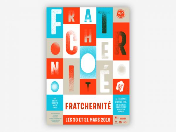 <span>Identité visuelle du festival Fratchernité</span><i>→</i>