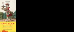 affiche château des lumières gastronomie exposition