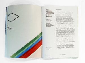 graphisme catalogue exposition esam 2