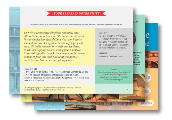 édition livret pédagogique château luneville 1