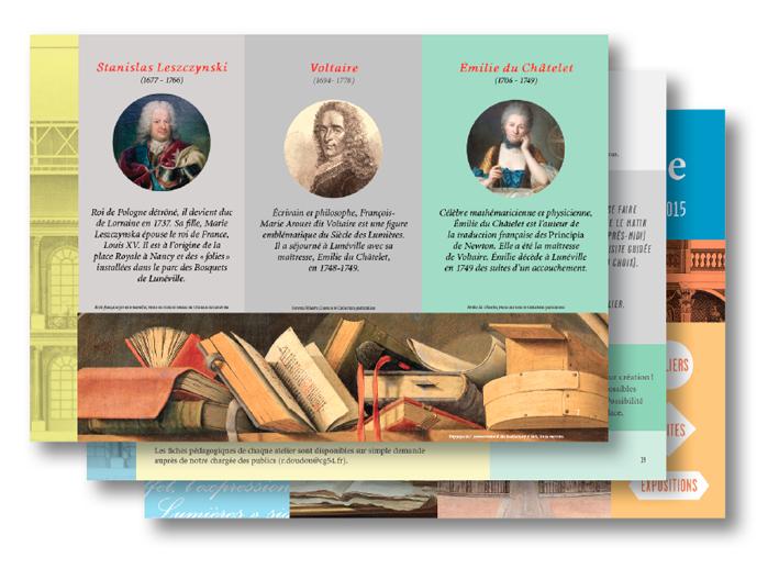 édition livret pédagogique château luneville