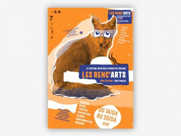 <span>Identité visuelle du festival les Renc'arts</span><i>→</i>