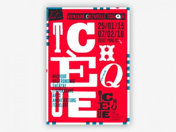 <span>Identité visuelle du festival de la Quinzaine Culturelle Tchèque</span><i>→</i>