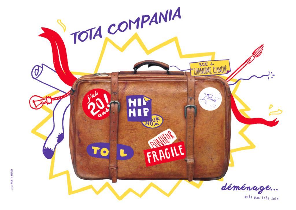 identité visuelle compagnie de théâtre total compania 3